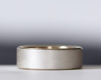 Womens Silver Wedding Band Mens Wedding Ring Wedding Band Classic Wedding Modern Wedding Simple Wedding Handmade Wedding 14k Yellow Gold