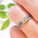 Moissanite Engagement Ring Womens Wedding Band Wedding Ring Diamond-alternative Womens Engagement Ring Cherry Blossom Ring Floral Ring