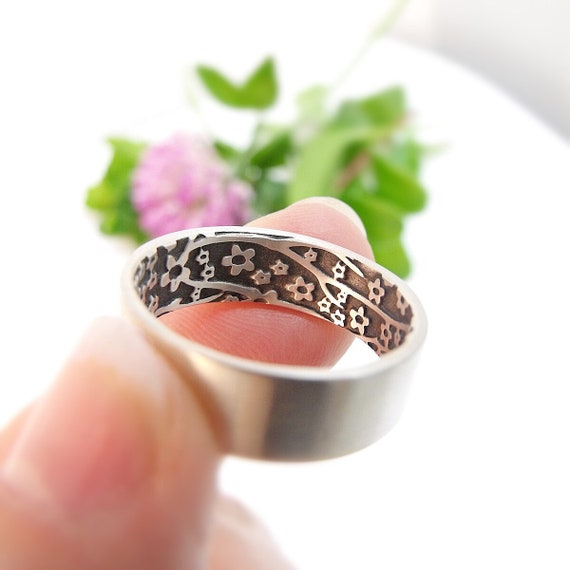 Womens Wedding Band Set Womens Wedding Ring Set Opposites