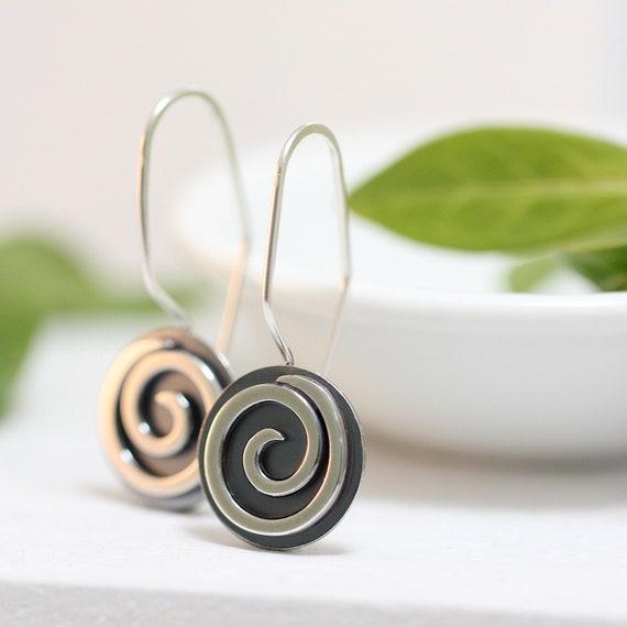 Spiral Disc Earrings