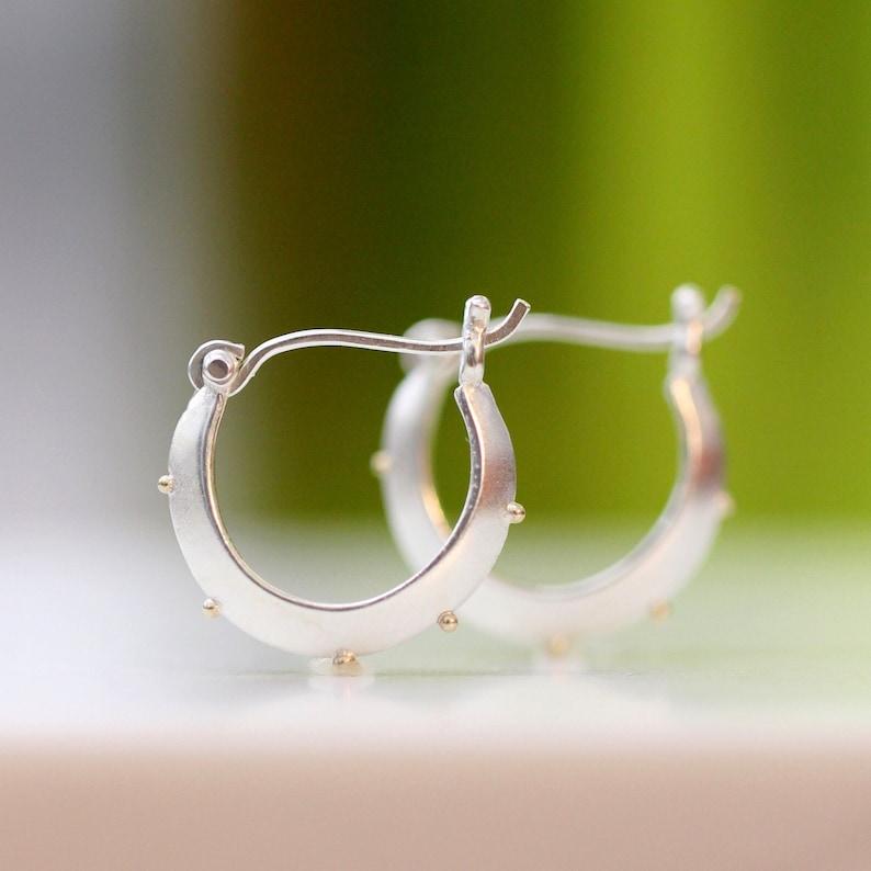 Sterling Silver Hoop Earrings Small Silver Hoops Sterling image 0