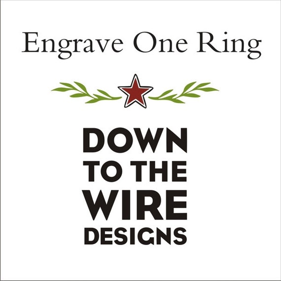 Upgrade: Ring Engraving - Inside of Ring
