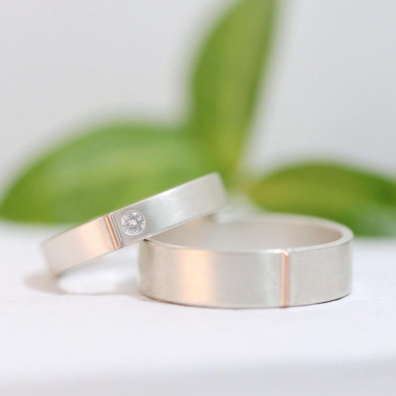 Diamond Wedding Ring Moissanite Wedding Band Set Diamond image 0