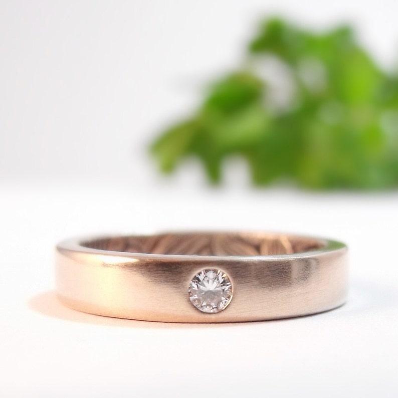 Diamond Engagement Ring Womens Wedding Band Rose Gold image 0