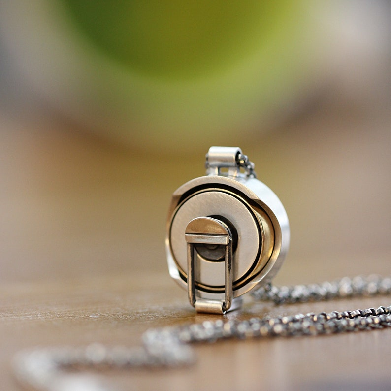 Wedding Ring Pendant Ring Pendant Sterling Silver Pendant Box image 0