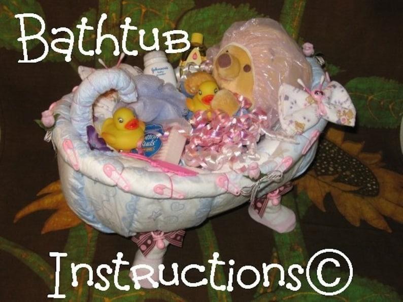 Riempire La Vasca Da Bagno In Inglese : Imparare 2 fare una vasca da bagno da pannolini. tutorial. etsy
