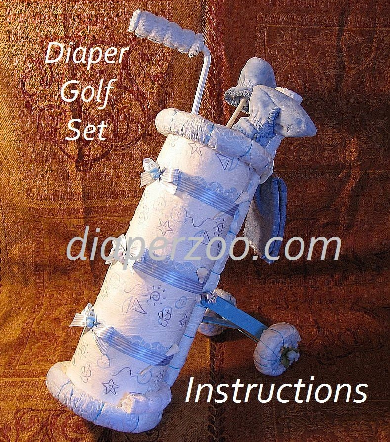 Instructions To Make This Adorable Babys 1st Golf Set Diaper Etsy