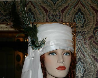 "SPECIAL ORDER - Women's Arabian Turban Headdress Hat ""Princess Jasmine"" Dolley Madison Turban Arab"