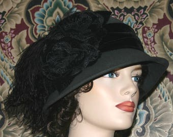 Flapper Hat, Cloche Hat, Gatsby Hat, Roaring 20's Hat, Tea Party Hat, Women's Hat - Lady Marguerite