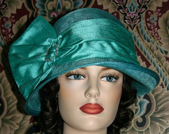 Fashion Hat, Kentucky Derby Hat, Del Mar, Wedding Hat, Flapper Hat, Edwardian Hat, Gatsby Hat, Garden Party Hat, Tea Party Hat - Josephine