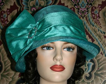 Kentucky Derby Hat, Del Mar Hat, Royal Wedding Hat, Flapper Hat, Edwardian Hat, Gatsby Hat, Garden Party Hat, Tea Party Hat - Josephine