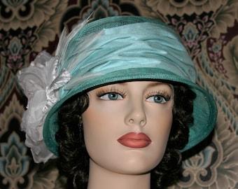 Fashion Hat, Kentucky Derby Hat, Del Mar, Wedding Hat, Flapper Hat, Edwardian Hat, Gatsby Hat, Garden Party Hat, Tea Party Hat- Lady Amelia