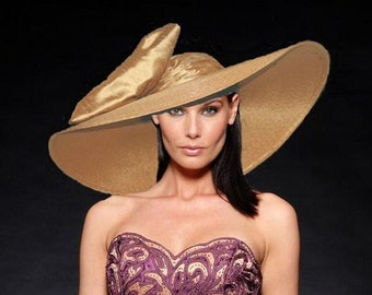 "Kentucky Derby Hat, Ascot Hat, Southern Belle Hat, Edwardian Hat, Downton Abbey Hat 22"" Wide Brim Hat - Titanic"