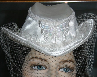 SALE Kentucky Derby Hat Victorian Hat Wedding Petite Hat Women's White Hat One of a Kind Hat - Mademoiselle Dupree SALE