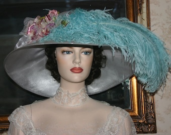 Royal Wedding Hat, Kentucky Derby Hat, Ascot Hat, Edwardian Tea Hat, Titanic Hat, Downton Abbey Hat, - Run for the Roses