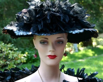 Edwardian Hat, Kentucky Derby Hat, Ascot Hat, Titanic Hat, Del Mar Hat - Lady Elizabeth -  2 Weeks for Completion