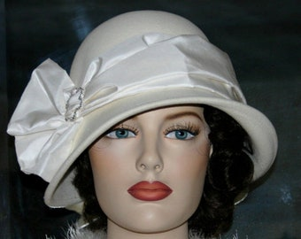 Flapper Hat, Edwardian Wedding Hat, Ascot Hat, Gatsby Hat, Roaring Twenties Hat, Kentucky Derby Hat - Lady Josephine