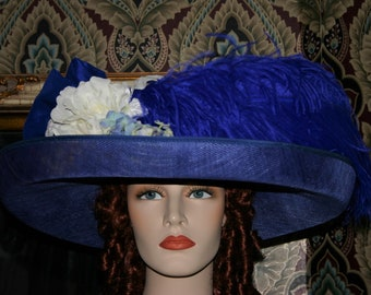 Kentucky Derby Hat, Edwardian Hat, Ascot Hat, Fashion Hat, Suffragette Hat, Tea Party Hat, Garden Party Hat, Wide Brim Hat - Lady Canterbury