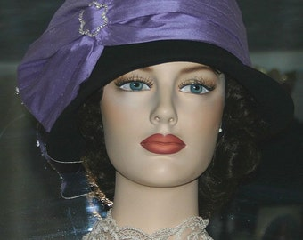 Flapper Hat, Gatsby Hat, Downton Abbey Tea Hat, Church Hat, Roaring Twenties, Cloche Hat, Wedding Hat - Josephine