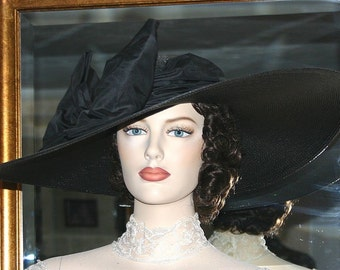 Kentucky Derby Hat, Ascot Hat, Edwardian Hat, Titanic Hat, Kentucky Derby Hat, Wide Brim Hat - Titanic