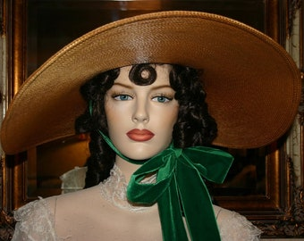 Southern Belle Hat PRE-ORDER Gone With Wind Hat Scarlett O'Hara Barbecue Hat Victorian Available Aug. 1 2019 - Miss Scarlett