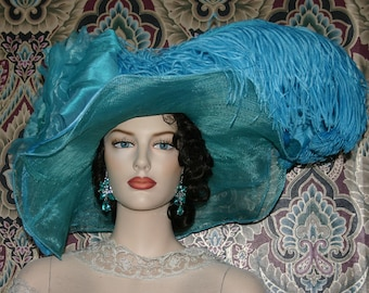 Fashion Hat, Kentucky Derby Hat, Ascot Hat, Edwardian Tea Party Hat, Titanic Hat, Somewhere in Time Hat, Royal Wedding Hat - Lullahby Lily