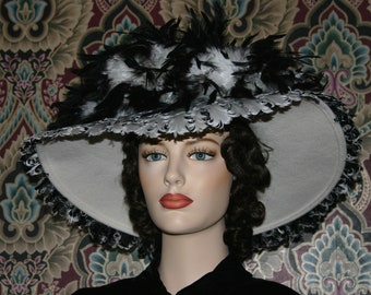Kentucky Derby Hat, Ascot Hat, Titanic Hat, Somewhere Time Hat, Fashion Hat, Feather Hat, Tea Hat, Edwardian Hat, Women's Hat - Lady Anna