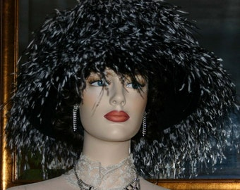 SPECIAL ORDER - Kentucky Derby Hat, Ascot Hat, Del Mar Hat, 12+ colors available, LOTS of Feathers, Feather Hat  - Waltzing Matilda