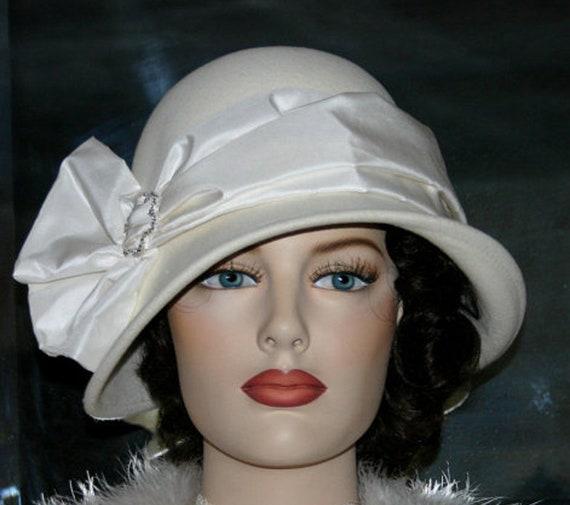 c9741016f19eb6 Flapper Hat Downton Abbey Hat Edwardian Wedding Hat Ascot | Etsy