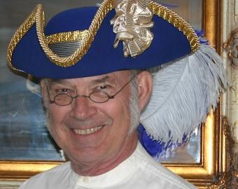 SPECIAL ORDER - Colonial Hat, Tri Corn Hat, Military Hat, Rococo Hat, Victorian Hat, Pirate Hat - Venezia