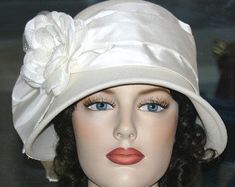Flapper Hat, Church Hat, Tea Party Hat, Easter Hat, Edwardian Hat, Downton Abbey Hat, Gatsby Hat, Royal Wedding Hat - Lady Jennifer