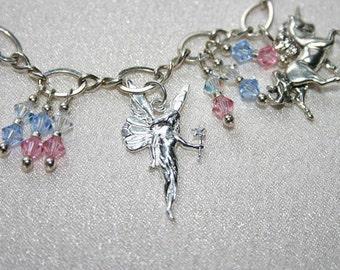 Mother's Day Bracelet Sterling Silver .925 Charm Bracelet - Fantasy