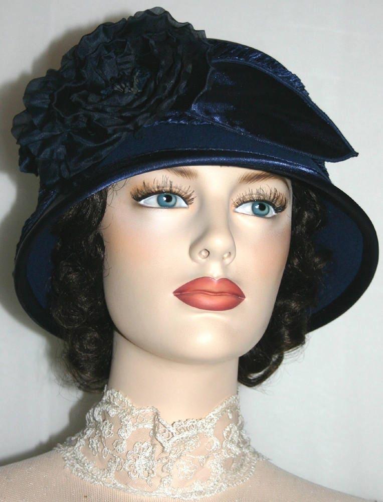 63ee3d343dd0e3 Flapper Hat, Cloche Hat, Downton Abbey Hat, Gatsby Hat, Edwardian Hat,  Roaring Twenties Hat, Church Hat, Royal Wedding Hat - Madame Ronda