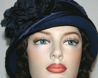 Flapper Hat, Cloche Hat, Downton Abbey Hat, Gatsby Hat, Edwardian Hat, Roaring Twenties Hat, Church Hat, Royal Wedding Hat - Madame Ronda