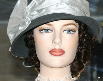 Flapper Hat, Downton Abbey Hat, Gatsby Hat, Church Hat, Miss Fisher Hat,  - Josephine