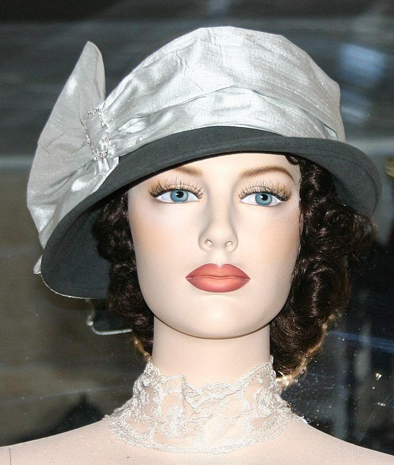 b83f31ee03fe85 Flapper Hat Downton Abbey Hat Gatsby Hat Church Hat Miss | Etsy