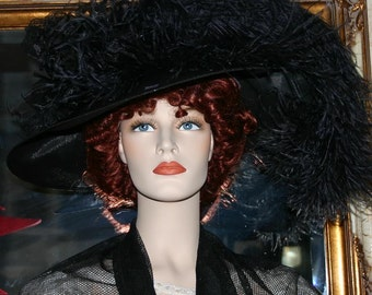 Kentucky Derby Hat, Ascot Hat, Edwardian Tea Hat, Titanic Hat, Somewhere Time Hat - Run for the Roses