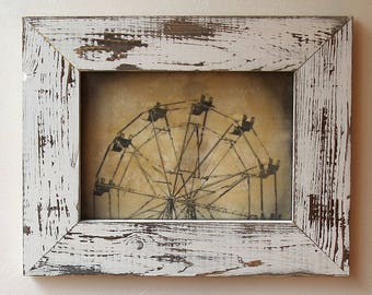 Ferris Wheel / Original Art / Encaustic Mixed Media Art / Original Photograph / Wall Art / Wall Decor /  HALF FERRIS  by Mikel Robinson