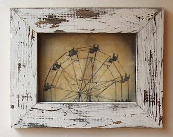 Ferris Wheel / Original Art / Encaustic Mixed Media Art / Original Photograph / Wall Art / Wall Decor /  HALF FERRIS  by Mikel Robinson
