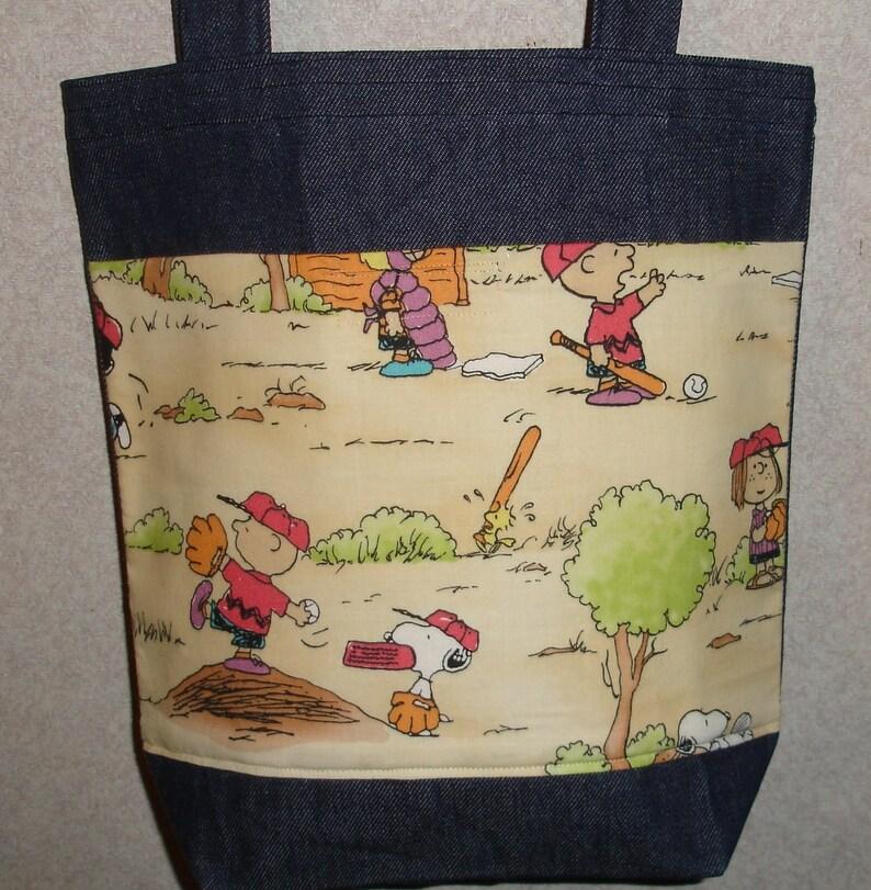 NEW Handmade Medium Halloween Witch Pumpkin Treat Denim Tote Bag