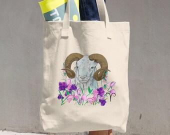 Aries Canvas Tote Bag