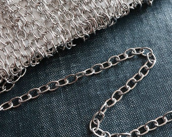 1 or BULKS CHAIN Sterling Silver .925 Plated Ready to Wear 30 Necklace Supplies Findings Jewelry Making Accessories Hardware Do It Yourself