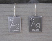 Atomic Symbol For Silver Earrings