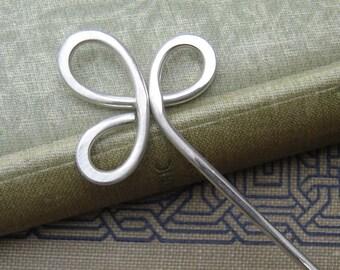 0519-64 Handmade Silver Spiral Hair Stick