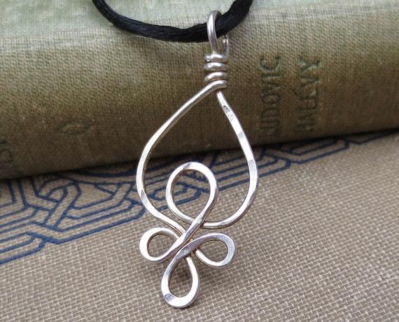 Keltische Schleifen Sterling Silber Draht Anhänger keltische | Etsy