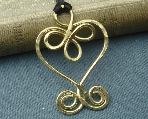 Keltischer Schmuck keltische Herzhalskette Herz-Anhänger | Etsy