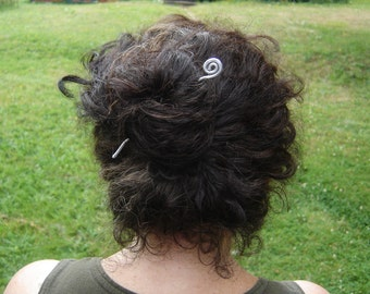 Simple Spiral Wavy Metal Hair Stick, Light Weight Aluminum Shawl Pin, Shawl Stick, Hair Accessories, Bun Holder, Women Hair Toy, Hair Sword