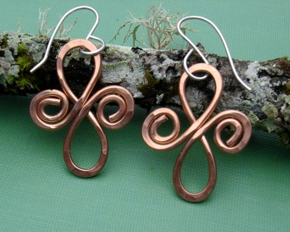 Keltische Infinity Kupfer Spiralen keltischer Schmuck Kupfer | Etsy