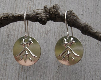 Tea- Japanese Kanji and Chinese Character Cha Tea Silver Earrings - Asian Jewelry