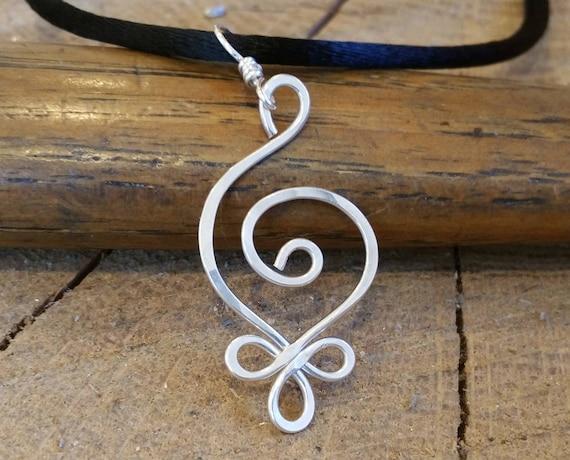 8b8f02021a6e5 Budding Spiral Necklace Celtic Sterling Silver Pendant